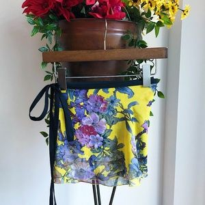 JULE DANCEWEAR FLORAL WRAP SKIRT